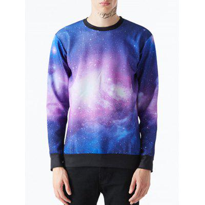 Gearbest Crew Neck Galaxy Sweatshirt