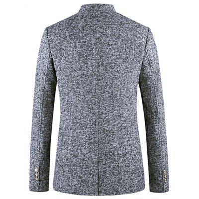 Mandarin Collar Single Breasted Wool Blend BlazerMens Blazers<br>Mandarin Collar Single Breasted Wool Blend Blazer<br><br>Closure Type: Single Breasted<br>Material: Polyester, Wool<br>Package Contents: 1 x Blazer<br>Shirt Length: Long<br>Sleeve Length: Long Sleeves<br>Weight: 0.7100kg