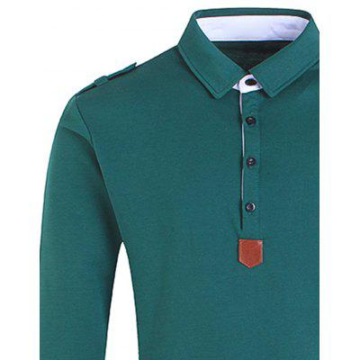 Epaulet PU Leather Applique Polo T-shirtMens Long Sleeves Tees<br>Epaulet PU Leather Applique Polo T-shirt<br><br>Collar: Polo Collar<br>Material: Cotton, Polyester<br>Package Contents: 1 x T-shirt<br>Pattern Type: Solid<br>Season: Fall, Spring<br>Sleeve Length: Full<br>Style: Casual, Fashion, Streetwear<br>Weight: 0.4500kg