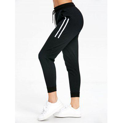 Stripe Panel Drawstring Joggers Pants