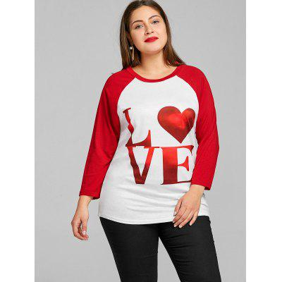 Valentine Raglan Sleeve Plus Size T-shirtPlus Size Tops<br>Valentine Raglan Sleeve Plus Size T-shirt<br><br>Collar: Round Neck<br>Material: Polyester<br>Package Contents: 1 x T-shirt<br>Pattern Type: Heart, Letter<br>Season: Fall, Spring<br>Shirt Length: Regular<br>Sleeve Length: Full<br>Sleeve Type: Raglan Sleeve<br>Style: Fashion<br>Weight: 0.2500kg