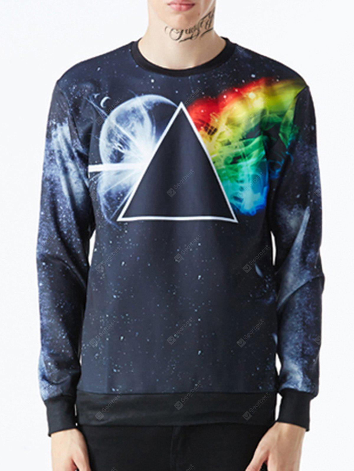 Geometric Crewneck Galaxy Sweatshirt