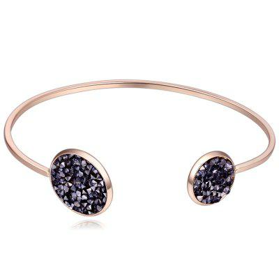 Faux Crystal Decorated Cuff Bracelet