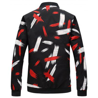 Painting Printed Zip Up Bomber JacketMens Jackets &amp; Coats<br>Painting Printed Zip Up Bomber Jacket<br><br>Closure Type: Zipper<br>Clothes Type: Jackets<br>Collar: Stand Collar<br>Material: Polyester<br>Occasion: Holiday, Going Out, Daily Use, Casual<br>Package Contents: 1 x Jacket<br>Season: Fall, Spring<br>Shirt Length: Regular<br>Sleeve Length: Long Sleeves<br>Style: Fashion, Streetwear, Casual<br>Weight: 0.4600kg