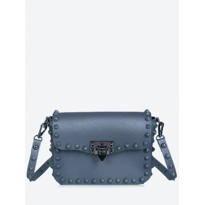 Studs Metal Flap Crossbody Bag