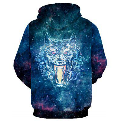 Kangaroo Pocket Wolf Print Galaxy HoodieMens Hoodies &amp; Sweatshirts<br>Kangaroo Pocket Wolf Print Galaxy Hoodie<br><br>Clothes Type: Hoodie<br>Material: Polyester, Spandex<br>Occasion: Sports, Daily Use, Casual<br>Package Contents: 1 x Hoodie<br>Patterns: Animal<br>Shirt Length: Regular<br>Sleeve Length: Full<br>Style: Casual<br>Thickness: Regular<br>Weight: 0.5300kg
