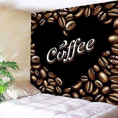 Coffee Beans Abstract Heart Wall Hanging Valentine's Day Tapestry