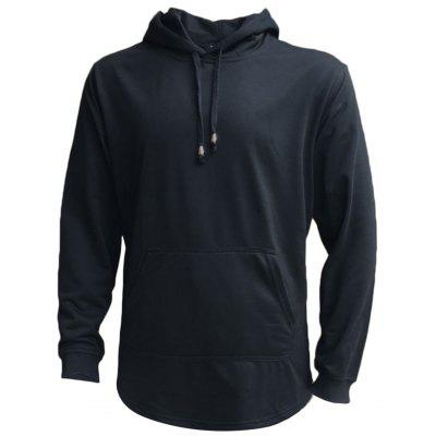 Longline Pouch Pocket Pullover Hoodie