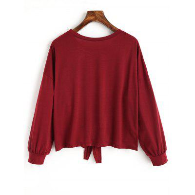 Bowknot Hem Long Sleeve TeeTees<br>Bowknot Hem Long Sleeve Tee<br><br>Collar: Round Neck<br>Embellishment: Bowknot<br>Material: Polyester<br>Package Contents: 1 x Tee<br>Pattern Type: Solid Color<br>Sleeve Length: Full<br>Style: Casual<br>Weight: 0.2600kg