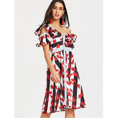 Skew Neck Leaves Print Striped DressWomens Dresses<br>Skew Neck Leaves Print Striped Dress<br><br>Dresses Length: Knee-Length<br>Material: Polyester, Spandex<br>Neckline: Skew Collar<br>Package Contents: 1 x Dress<br>Pattern Type: Striped, Print<br>Season: Fall, Spring<br>Silhouette: A-Line<br>Sleeve Length: Short Sleeves<br>Style: Brief<br>Weight: 0.5000kg<br>With Belt: No