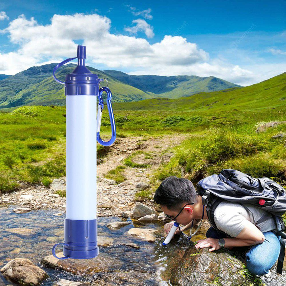 Portable Water Filter Straw Purification Pump Hebilla colgante