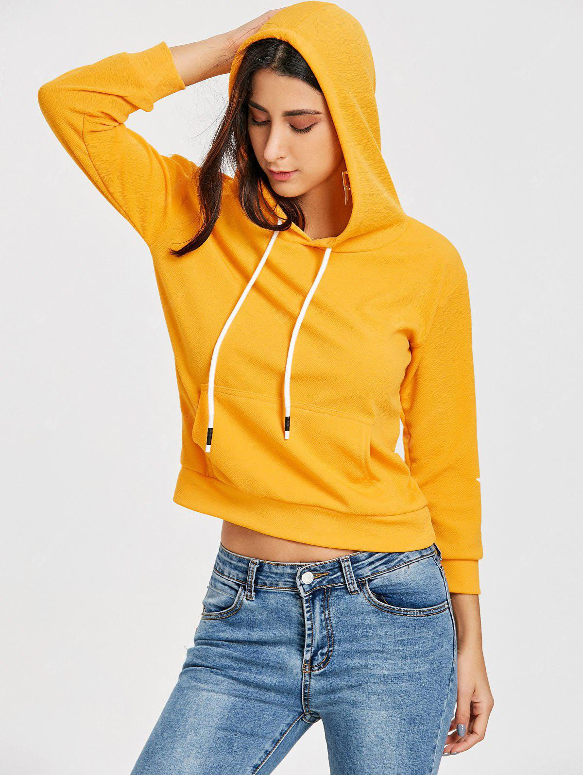 Drawstring Front Pocket Graphic Pullover Hoodie