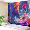 Cartoon Underwater Sea Life Print Wall Art Tapestry - COLORFUL