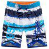 Tropical Print Water Sports Board Short - BLUE