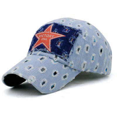 Unique Star Pattern Lattic Holes Adjustable Baseball Hat