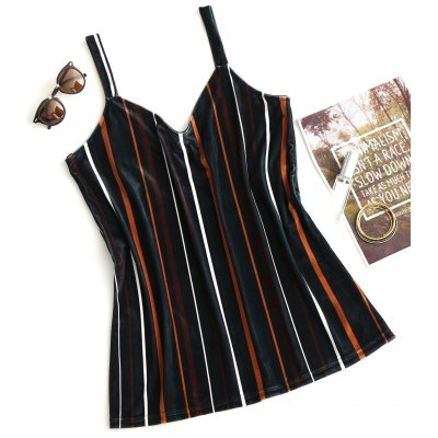 Velvet Stripes Longline Tank Top