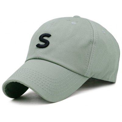 Simple S Pattern Embellished Adjustable Baseball Hat