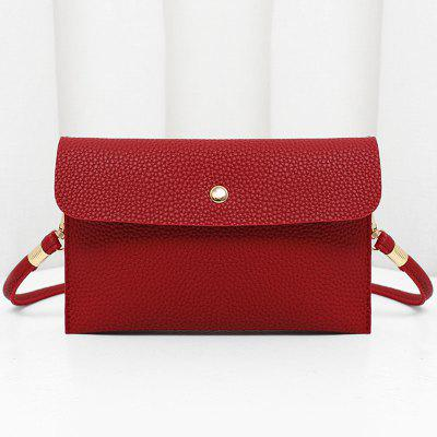 Faux Leather Minimalist Flap bandolera