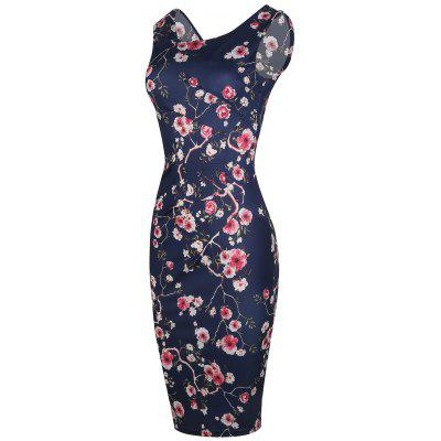 Sleeveless Printed Bodycon DressBodycon Dresses<br>Sleeveless Printed Bodycon Dress<br><br>Dresses Length: Knee-Length<br>Material: Polyester<br>Neckline: Round Collar<br>Package Contents: 1 x Dress<br>Pattern Type: Print<br>Season: Summer<br>Silhouette: Bodycon<br>Sleeve Length: Sleeveless<br>Style: Brief<br>Weight: 0.2800kg<br>With Belt: No