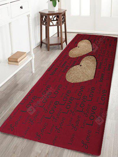 Valentine's Day Hearts Love Print Flannel Skidproof Bath Mat