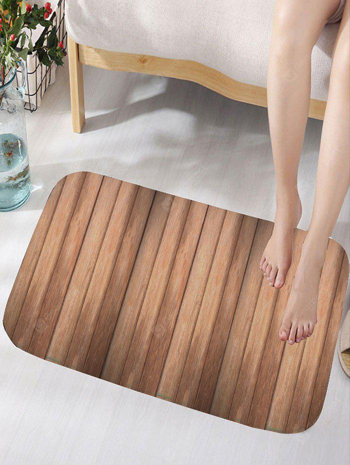 Vintage Wood Grain Flannel Skidproof Bath Rug
