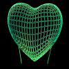 Valentine's Day 3D Heart USB Charging LED Touch Night Light - TRANSPARENT