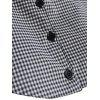 Plus Size Plaid Detachable Shirt Collar - GRAY