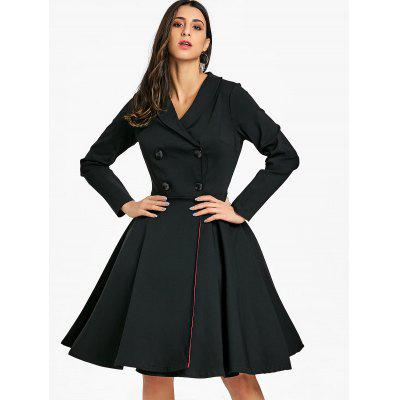 Vintage Shawl Collar Buttoned Pin Up DressWomens Dresses<br>Vintage Shawl Collar Buttoned Pin Up Dress<br><br>Dresses Length: Knee-Length<br>Embellishment: Button<br>Material: Polyester<br>Neckline: Shawl Collar<br>Package Contents: 1 x Dress<br>Pattern Type: Solid Color<br>Season: Fall, Spring<br>Silhouette: A-Line<br>Sleeve Length: Long Sleeves<br>Style: Vintage<br>Weight: 0.8000kg<br>With Belt: No