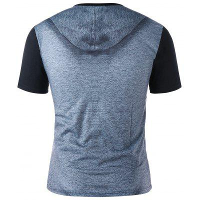 Hoodie Illusory Graphic T-shirtMens Short Sleeve Tees<br>Hoodie Illusory Graphic T-shirt<br><br>Collar: Crew Neck<br>Material: Polyester, Spandex<br>Package Contents: 1 x T-shirt<br>Pattern Type: Figure<br>Sleeve Length: Short<br>Style: Casual<br>Weight: 0.2000kg