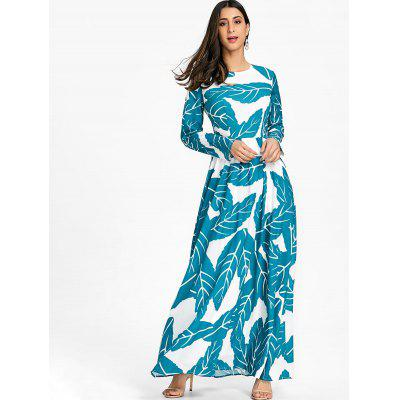 Bohemian Leaves Print Maxi DressWomens Dresses<br>Bohemian Leaves Print Maxi Dress<br><br>Dresses Length: Floor-Length<br>Material: Polyester, Spandex<br>Neckline: Round Collar<br>Package Contents: 1 x Dress<br>Pattern Type: Leaf<br>Season: Spring, Fall<br>Silhouette: A-Line<br>Sleeve Length: Long Sleeves<br>Style: Bohemian<br>Weight: 0.5600kg<br>With Belt: No