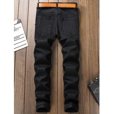 Panel Design Zipper Fly Straight Leg JeansMens Pants<br>Panel Design Zipper Fly Straight Leg Jeans<br><br>Closure Type: Zipper Fly<br>Fit Type: Regular<br>Material: Jean, Polyester<br>Package Contents: 1 x Jeans<br>Pant Length: Long Pants<br>Pant Style: Straight<br>Wash: Medium<br>Weight: 0.5900kg<br>With Belt: No
