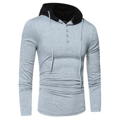 Long Sleeve Two Tone Buttoned Hooded TeeMens Long Sleeves Tees<br>Long Sleeve Two Tone Buttoned Hooded Tee<br><br>Collar: Hooded<br>Material: Cotton, Polyester, Spandex<br>Package Contents: 1 x Tee<br>Pattern Type: Color Block<br>Season: Fall, Spring<br>Sleeve Length: Full<br>Style: Casual<br>Weight: 0.4000kg