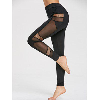Fishnet Panel Sports Leggings