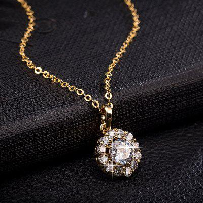 Sparkly Rhinestone Round Collarbone NecklaceNecklaces &amp; Pendants<br>Sparkly Rhinestone Round Collarbone Necklace<br><br>Gender: For Women<br>Item Type: Pendant Necklace<br>Length: 50CM<br>Material: Rhinestone<br>Package Contents: 1 x Necklace<br>Shape/Pattern: Round<br>Style: Trendy<br>Weight: 0.0400kg