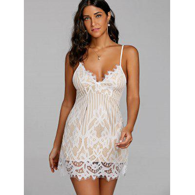 Eyelash Lace Sundress with Nude LiningWomens Dresses<br>Eyelash Lace Sundress with Nude Lining<br><br>Dresses Length: Mini<br>Material: Cotton, Spandex<br>Neckline: Spaghetti Strap<br>Package Contents: 1 x Dress<br>Pattern Type: Others<br>Season: Fall, Spring, Summer<br>Silhouette: A-Line<br>Sleeve Length: Sleeveless<br>Style: Sexy &amp; Club<br>Weight: 0.1700kg<br>With Belt: No