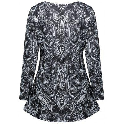 Long Sleeve Cashew Print Tunic T-shirtBlouses<br>Long Sleeve Cashew Print Tunic T-shirt<br><br>Collar: Scoop Neck<br>Material: Polyester, Spandex<br>Package Contents: 1 x T-shirt<br>Pattern Type: Tribal Print<br>Season: Fall, Spring<br>Shirt Length: Regular<br>Sleeve Length: Full<br>Style: Casual<br>Weight: 0.2600kg