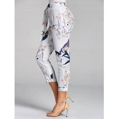High Waisted Floral Print Capri PantsPants<br>High Waisted Floral Print Capri Pants<br><br>Closure Type: Zipper Fly<br>Fit Type: Skinny<br>Length: Capri<br>Material: Polyester<br>Package Contents: 1 x Pants  1 x Belt<br>Pant Style: Pencil Pants<br>Pattern Type: Floral<br>Style: Casual<br>Waist Type: High<br>Weight: 0.2500kg<br>With Belt: Yes