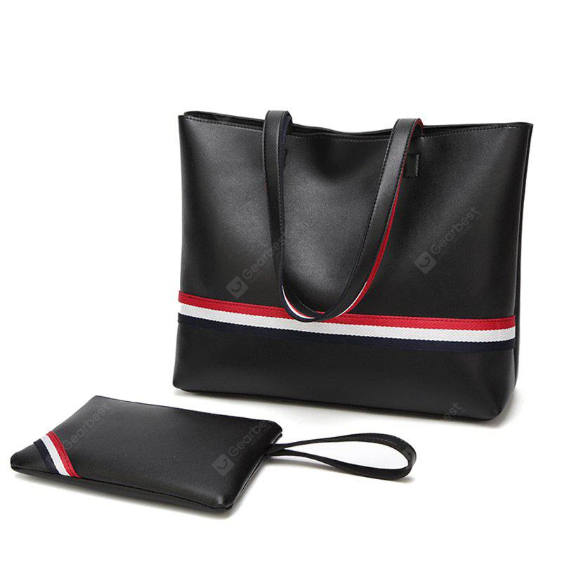 2 Pieces Striped Shoulder Bag Set