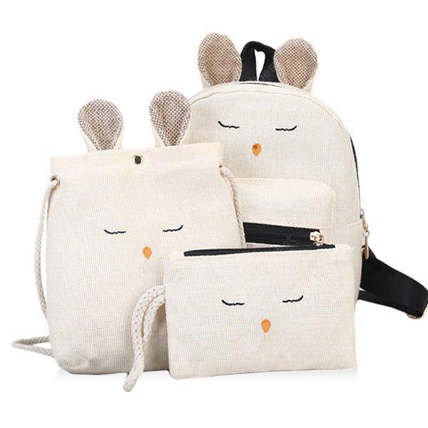 3 Pieces Cartoon Pattern Backpack Set