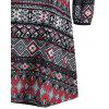 Ethnic Print Mini Swing Dress - MULTI