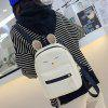 3 Pieces Cartoon Pattern Backpack Set - WHITE