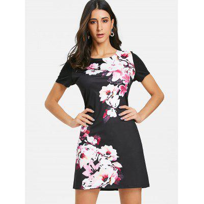 Short Sleeve Floral Print Mini Sheath DressWomens Dresses<br>Short Sleeve Floral Print Mini Sheath Dress<br><br>Dresses Length: Mini<br>Material: Polyester<br>Neckline: Round Collar<br>Package Contents: 1 x Dress<br>Pattern Type: Print, Floral<br>Season: Fall, Spring, Summer<br>Silhouette: Bodycon<br>Sleeve Length: Short Sleeves<br>Style: Casual<br>Waist: Natural<br>Weight: 0.2900kg<br>With Belt: No