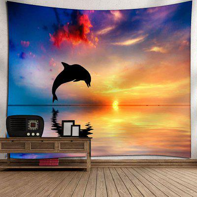 Sunset Jumping Dolphin Print Wall Hanging TapestryBlanksts&amp; Throws<br>Sunset Jumping Dolphin Print Wall Hanging Tapestry<br><br>Feature: Removable, Washable<br>Material: Nylon, Polyester<br>Package Contents: 1 x Tapestry<br>Shape/Pattern: Animal<br>Style: Natural<br>Theme: Landscape<br>Weight: 0.3000kg