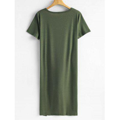 Tie Asymmetrical Longline TopTees<br>Tie Asymmetrical Longline Top<br><br>Collar: Round Neck<br>Embellishment: Tie<br>Material: Cotton, Polyester<br>Package Contents: 1 x Top<br>Pattern Type: Solid<br>Seasons: Summer<br>Sleeve Length: Short<br>Style: Fashion<br>Weight: 0.2800kg