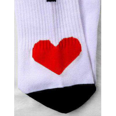 Pair Of Letter Print Graphic Knitted SocksWomens Socks &amp; Hosieries<br>Pair Of Letter Print Graphic Knitted Socks<br><br>Gender: Unisex<br>Group: Adult<br>Material: Polyester<br>Package Contents: 1 x Socks (Pair)<br>Pattern Type: Letter<br>Size(CM): Length:21CM   Heigth: 20CM<br>Style: Fashion<br>Type: Socks<br>Weight: 0.1000kg
