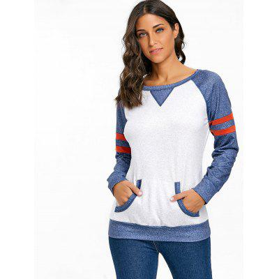 Raglan Sleeve Kangaroo Pocket Heathered TopBlouses<br>Raglan Sleeve Kangaroo Pocket Heathered Top<br><br>Collar: Round Neck<br>Embellishment: Front Pocket<br>Material: Polyester, Spandex<br>Package Contents: 1 x Top<br>Pattern Type: Others<br>Season: Fall, Spring, Winter<br>Shirt Length: Regular<br>Sleeve Length: Full<br>Sleeve Type: Raglan Sleeve<br>Style: Casual<br>Weight: 0.4100kg