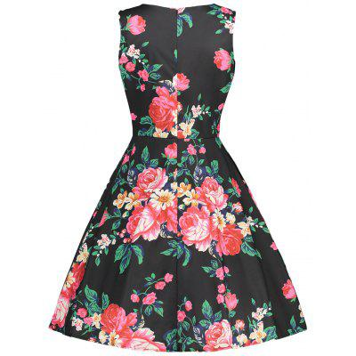 Tea Length Flower Print Sleeveless Vintage DressWomens Dresses<br>Tea Length Flower Print Sleeveless Vintage Dress<br><br>Dresses Length: Mid-Calf<br>Material: Polyester<br>Neckline: Round Collar<br>Package Contents: 1 x Dress<br>Pattern Type: Floral<br>Season: Fall, Spring, Summer<br>Silhouette: A-Line<br>Sleeve Length: Sleeveless<br>Style: Vintage<br>Weight: 0.2200kg<br>With Belt: No