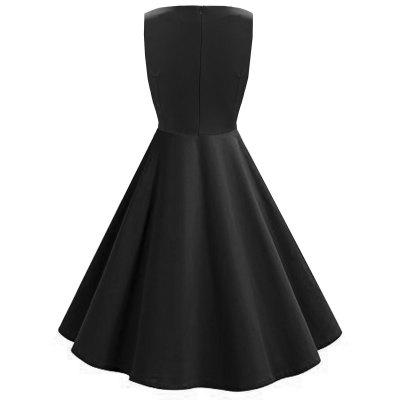 Vintage V Neck Ruched Flare DressWomens Dresses<br>Vintage V Neck Ruched Flare Dress<br><br>Dresses Length: Knee-Length<br>Material: Polyester, Spandex<br>Neckline: V-Neck<br>Package Contents: 1 x Dress<br>Pattern Type: Solid<br>Season: Spring, Fall<br>Silhouette: A-Line<br>Sleeve Length: Sleeveless<br>Style: Vintage<br>Weight: 0.3600kg<br>With Belt: No