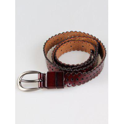 Vintage Hollow Out Pattern Embellished Cowhide Skinny BeltBelts<br>Vintage Hollow Out Pattern Embellished Cowhide Skinny Belt<br><br>Belt Length: 110CM<br>Belt Material: Cowskin<br>Belt Silhouette: Skinny Belt<br>Belt Width: 2.3CM<br>Gender: For Women<br>Group: Adult<br>Package Contents: 1 x Belt<br>Pattern Type: Others<br>Style: Fashion<br>Weight: 0.0500kg