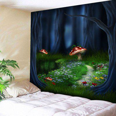 Fantasy Forest Print Wall Art Tapestry, Wall Hangings,Wall Art,Wall Decor,Wall Decorations,Wall Tapestry,Bedroom Tapestry,Fabric Tapestry,Printed Tapestry,Microfiber Tapestry,Mushroom Print Tapestry